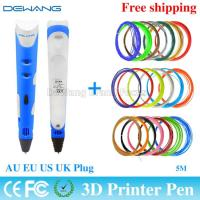 Wholesale Colorful portable functional 3d printer pen with ABS / PLA 1.75mm filament from china suppliers