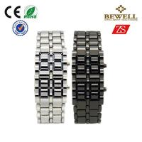 Wholesale Business And Casual Couple Wrist Watches With Red Blue Lava LED from china suppliers