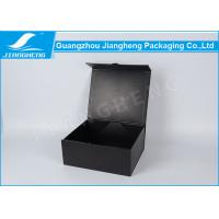 Wholesale Black Cardboard Folding Packing Boxes , Rectangular Magnetic Packaging Box from china suppliers