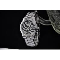 Wholesale Silver Mens Metal Wrist Watch With Diamond Zebra Strip Dial And Simple Chic Design from china suppliers