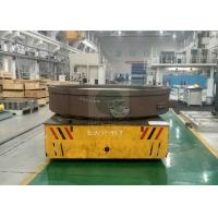 Wholesale 30t warehouse transfer steel floor steerable bogie mold handling from china suppliers