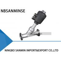 Wholesale PV500 Pneumatic Angle Valve Stainless Steel 304 / 316L Material ISO9001 Certification from china suppliers