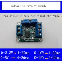 Wholesale Voltage to current module signal conversion conditioning 0-3.3v/5v/10v/15v to 4-20mA transmitter from china suppliers