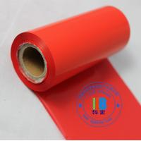 Wholesale Red color resin material barcode ribbon for Clear transparent Vinyl PVC label roll sticker printing from china suppliers