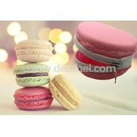 Wholesale Newly Promotional Macarons Kids Silicone Lady Purse Wallet with Zipper from china suppliers