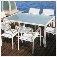Wholesale Beautiful Outdoor Furniture Dining Table with Toughened Tempered Glass from china suppliers