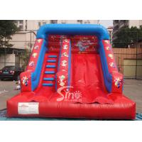 China Grand opening kids red clown inflatable slide with full digital printing for sale on sale