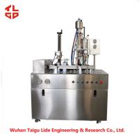 Quality Semi Auto Filling Machine For Engine Cleaner Spray , Spray Filling Machine For Aerosol Bottle for sale