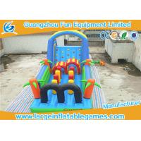 Wholesale Forest Theme Inflatable Obstacle Course For Adults , Inflatable Bounce House Climbing Games from china suppliers