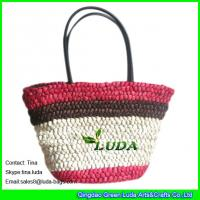 Wholesale LUDA wholesale straw handbags  large cornhusk women straw bags from china suppliers
