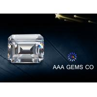 Wholesale Emerald Cut Diamond Moissanite White Lab Created Moissanite 8mm x 10mm from china suppliers