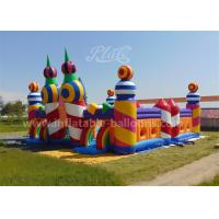 Buy cheap Rainbow Color Inflatable Bouncy Castle Candy World Giant With CE Blower from wholesalers