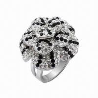 Wholesale Ring with Swarovski Jewelry, Sterling Silver Ring with Crystal, in New Design from china suppliers
