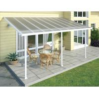 Wholesale Polycarbonate Alumawood Patio Cover , Powder Coated Aluminum Canopy For Veranda from china suppliers