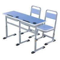 Wholesale Double Primary School Student Desk And Chair Set 1.2 MM Steel Electrostatic Spraying from china suppliers