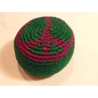 Wholesale Knit Peace Sign Design Hacky Sack Knitted Kick Balls from china suppliers
