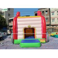 Quality Pink Princess Carriage Inflatable Jumping Castle Slide With Lead Free Material for sale