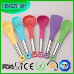 Wholesale Non-stick Kitchen Tools Custom Silicone Kitchen Utensil Set Silicone Spatula Set                                     Mu from china suppliers