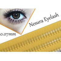 Buy cheap Pro Natural C Curl 0.12mm 8/10/12mm Black Individual False Eyelashes 3d 4d 5d Silk Eyelash from wholesalers