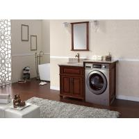Wholesale Wooden Laundry Washing Machine Bathroom Wall Cabinets Moisture Resistant from china suppliers