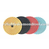 Wholesale Angle Grinder Diamond Floor Pads Wet Polishing Abrasive Disc Speed 4500 RMP from china suppliers
