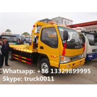 Wholesale China famous JAC brand flatbed towing vehicle for sale, JAC brand 4*2 LHD car towing services platform wrecker vehicle from china suppliers