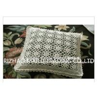 Wholesale 100% Cotton Hand Knitting Cushion Covers Hollow Out Flowers Style For Home Decoration from china suppliers