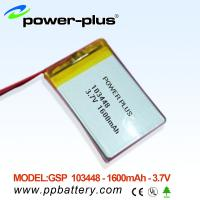 Wholesale High capacity Li-Polymer battery 103448 1600mAh 3.7V from china suppliers