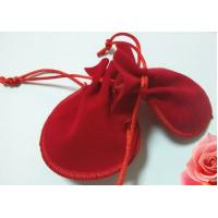 Wholesale Pretty Red Mini Velvet Drawstring Bag , Handmade Drawstring Gift Bags from china suppliers