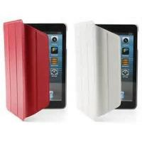 Wholesale Ultra slim rose-red color washable for iPad Mini foldable leather protective cases from china suppliers