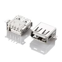 Buy cheap I/O connector USB 2.0 wholesale USB A female SMT type with peg from wholesalers