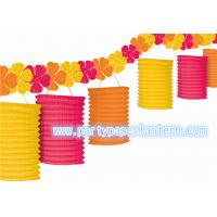 Wholesale Painted Design Hanging Paper Candle Lanterns For Courtyard / Outdoor Decoration Loveliness from china suppliers