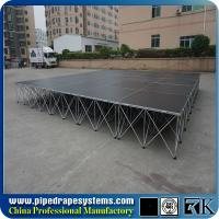 Quality RK mobile folding plywood stage platform with aluminum folding riser for sale