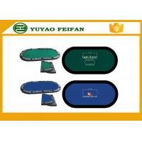 Wholesale Oval Portable Folding Poker Table Top Poker Table Speed Cloth for casino game from china suppliers