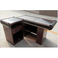 Wholesale Modern Shop Stainless Steel Express Supermarket Checkout Counter / Reception Desk from china suppliers