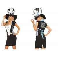 Wholesale Fashion Fancy Charming Rabbit  Party Adult Costumes Black White  Blue Mixed Color from china suppliers