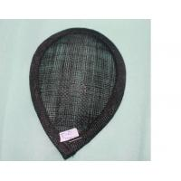 Wholesale 14x9.5cm Black Sinamay Base with Hard And Strong Stiffening for Ladies Sinamay Hat from china suppliers