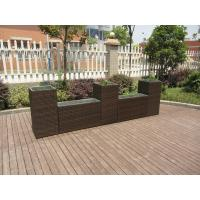 Wholesale Washable Outdoor Patio Brown Wicker Flower Pot With Aluminum Frame from china suppliers