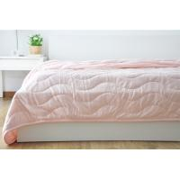 Wholesale Customized Waved Microfiber Quilting Blanket For Adults / Kids Single Size from china suppliers