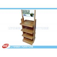 Wholesale Milk Promotion Chipboard Wooden Display Stands / Rack Custom With Logo Printing from china suppliers