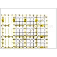 Wholesale Kearing 6.5 '' * 6.5 '' Clear Rigid Square Patchwork Quilting Rulers with Acrylic Material from china suppliers