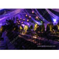 Quality Classical Wood Tables Available for Luxury Wedding Tents with Aluminum Frame for sale