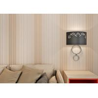Wholesale Dark Pink Home Decor Wallpaper / Living Room Striped Wallpaper With Printed Surface Treatment from china suppliers