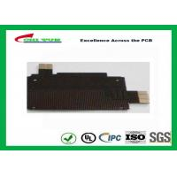 Wholesale Black Solder Mask Flexible PCB Manufacturing for Mobile Phone , 1mil PI Material from china suppliers
