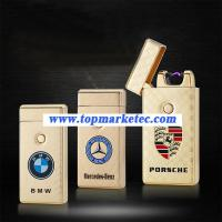 Wholesale Car logo lighter USB ARC Pulse Charge Lighters flameless lighter from china suppliers