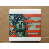 Wholesale 2017 Popular Good Quality 4'' Square Anti Slip Marble Stone Coaster Customized Size and Printed Logo from china suppliers