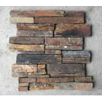 Wholesale Rusty Split Face Slate Z Stone Panel with Steel Wire Back,Natural Slate Stacked Stone Cladding from china suppliers