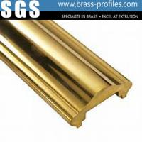 Wholesale Industrial Extruding Handrailing Alloys Golden Brass Hand Rail from china suppliers