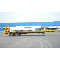 Wholesale 2 Axles Low Bed Trailer Low Bed Container Transport Trailer For Carry Machinery from china suppliers