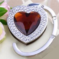 Wholesale Foldable Heart Bag Hanger purse hanger handbag hook With Crystal (QY-BH03) from china suppliers
